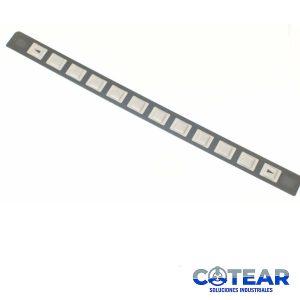 Membrana keysheet Teclado A98L-0001-0630 12Keys P/ Fanuc