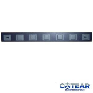 Membrana keysheet Teclado A98L-0001-0629 7Keys P/ Fanuc